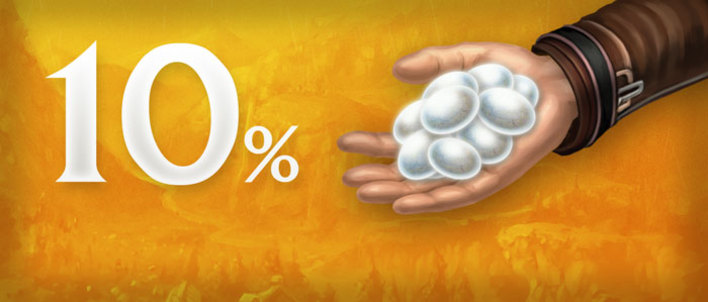 Promozione Cashback: acquista cash item e ti verrà restituito il 10% di Pietre